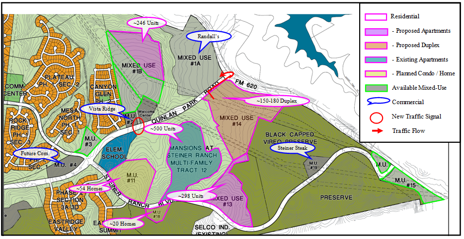 Map Front of Steiner Ranch Development 2012