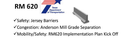 TXDOT Announces Major RM620 Improvements - Meeting Tuesday Sept 11 on Safety Improvements