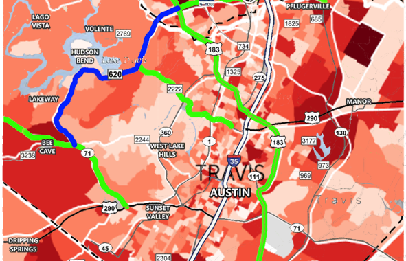 UPDATED (June): CAMPO IH-35 funding to take roadway fixes from west Austin metro: All RM620 and many Loop 360 projects proposed for significant delay